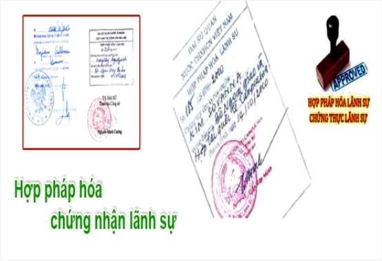Dịch vụ hợp pháp hóa lãnh sự giấy tờ, chứng nhận lãnh sự
