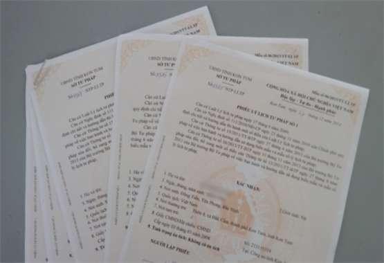 Dịch vụ làm phiếu lý lịch tư pháp số 1, số 2